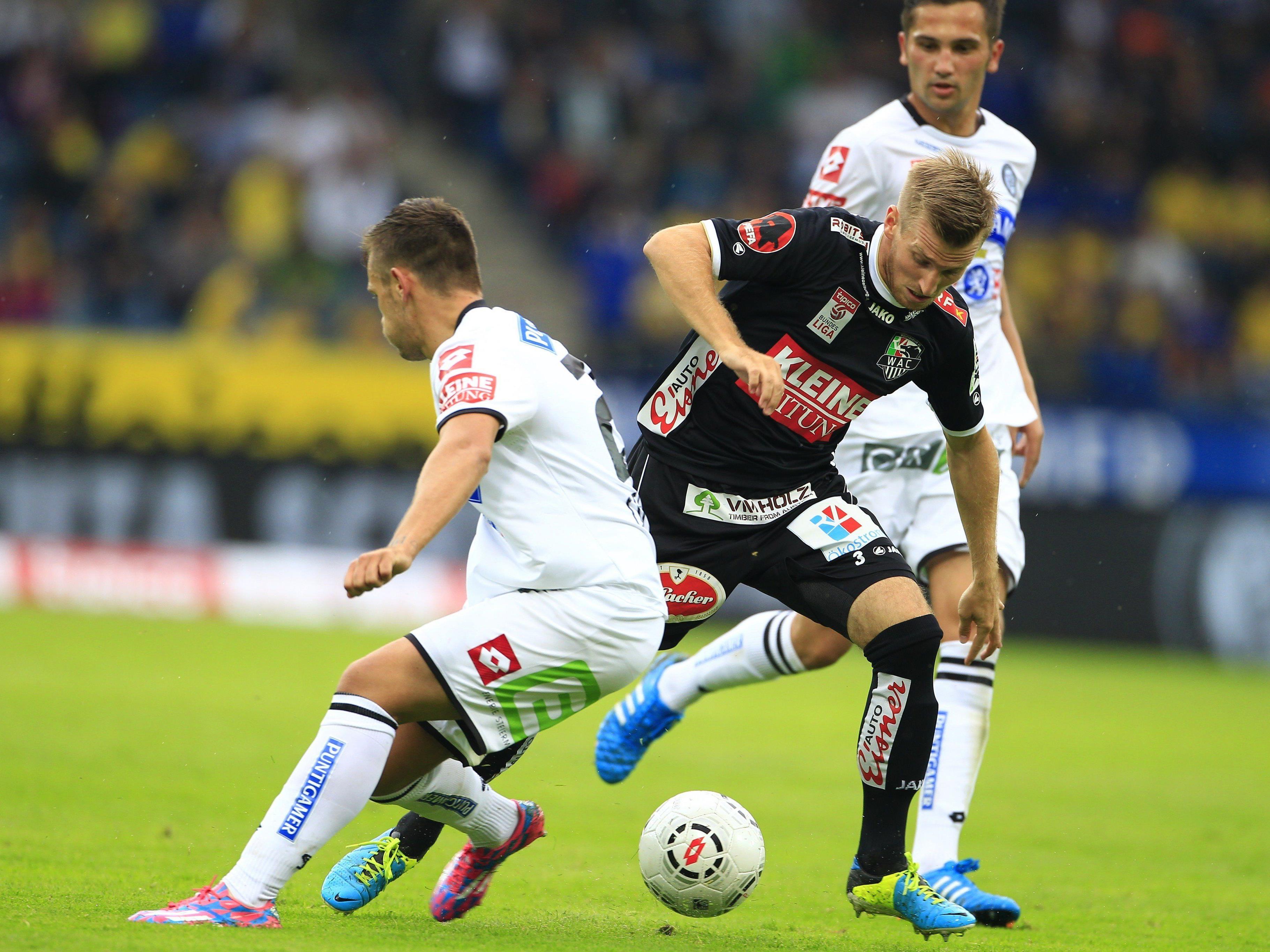 LIVE-Ticker zum Spiel WAC gegen SK Sturm Graz ab 16.00 Uhr.