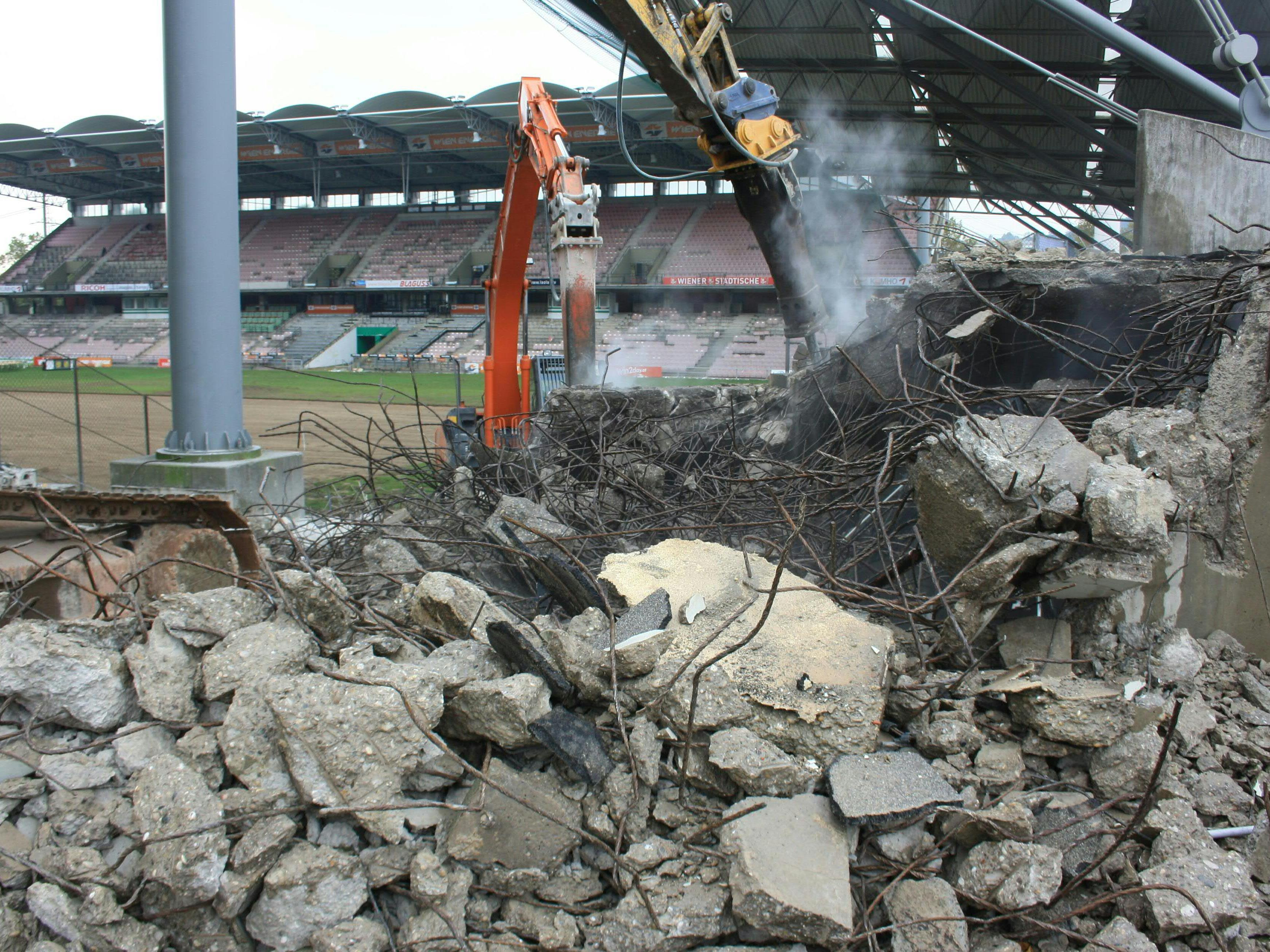 """Das Hanappi-Stadion wurde bereits abgerissen - nun wurde der Bau des """"Allianz Stadions"""" genehmigt."""