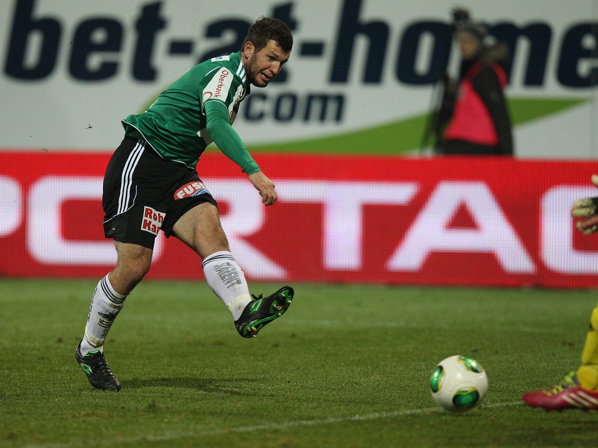 SV Horn-Spieler Andreas Schicker verlor seine Hand nach einem Unfall mit einem Knallkörper.