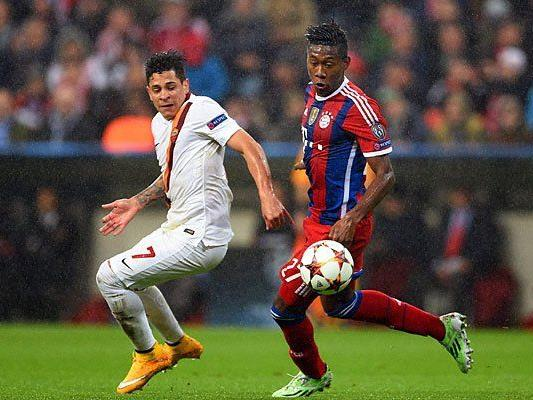 David Alaba beim Spiel gegen den AS Roma, bei dem er sich verletzte