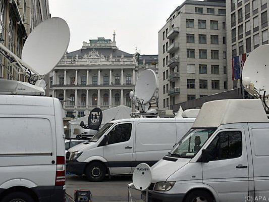 Ein großer Medienauflauf herrschte in Wien rund um die Atomgespräche