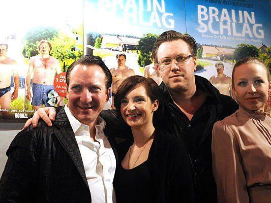 "Das ""Braunschlag""-Team: v.l.n.r Robert Palfrader, Sabrina Reiter, Nicholas Ofczarek und Nina Proll"