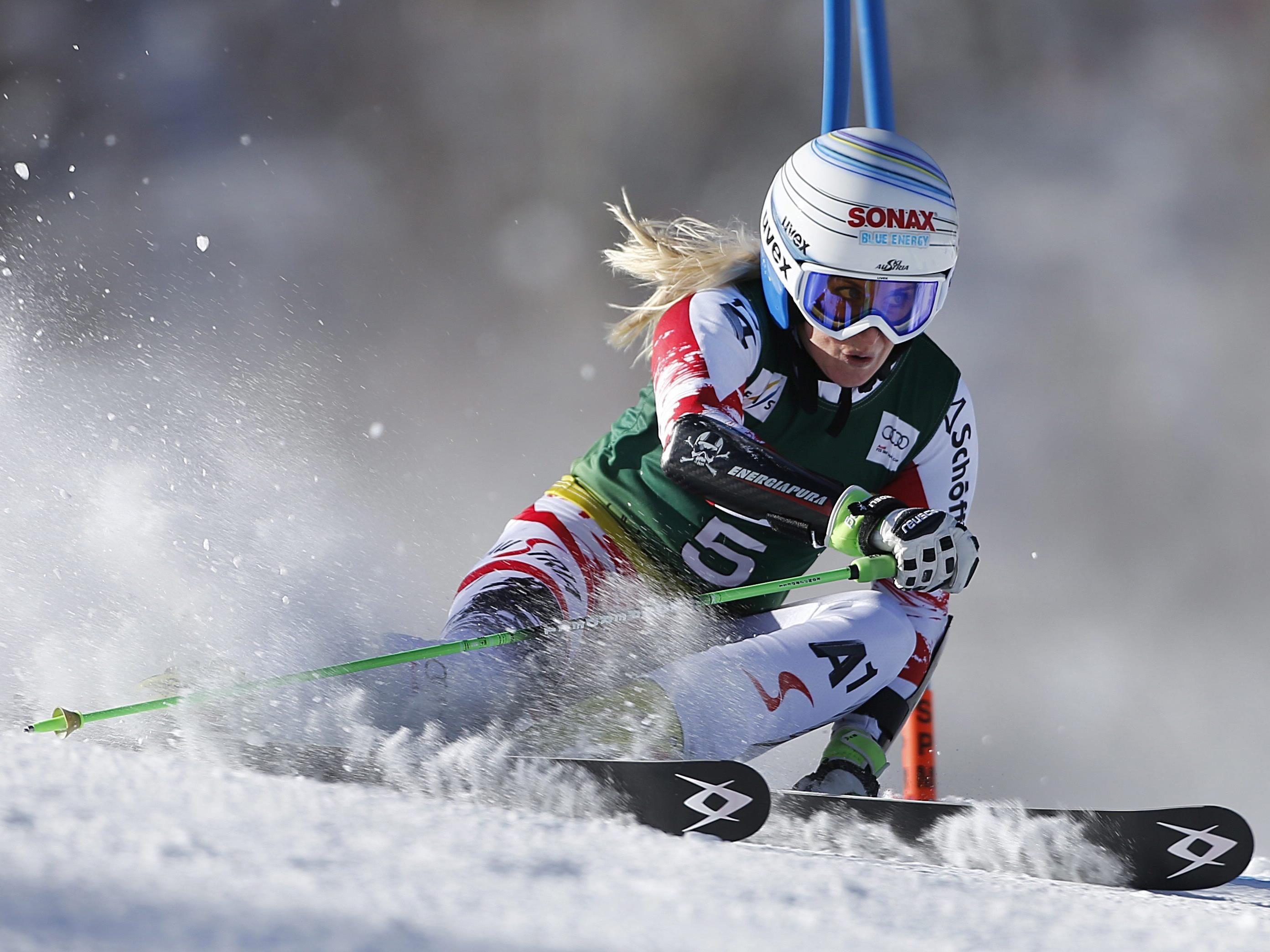 Eva-Maria Brem feierte im heutigen RTL in Aspen ihren ersten Weltcupsieg.