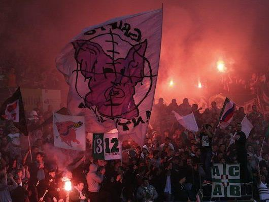 Rapid-Fans beim Wiener Derby