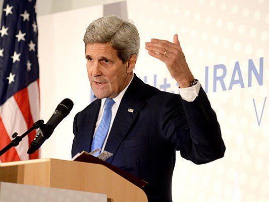 John Kerry bei den Atomgesprächen in Wien