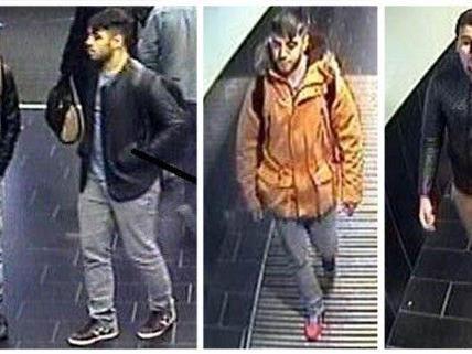 Diese Männer sollen die Rucksäcke am Flughafen gestohlen haben.