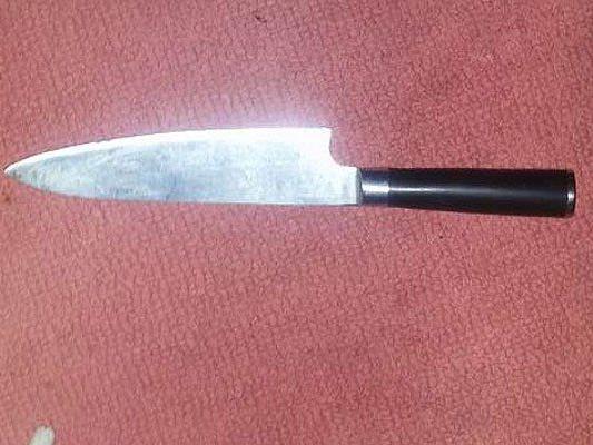 Dieses Messer wurde bei dem Vorfall in Ottakring sichergestellt
