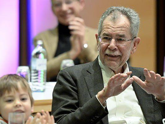 Alexander Van der Bellen am Sonntag beim 35. Bundeskongress der Grünen in Wien