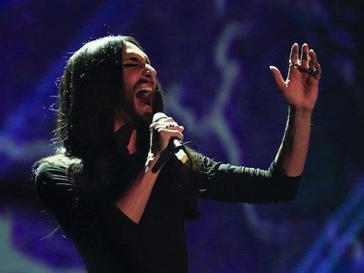 """Conchita Wurst während der TV-Show """"Wetten, dass..?"""" am Samstag in Graz"""