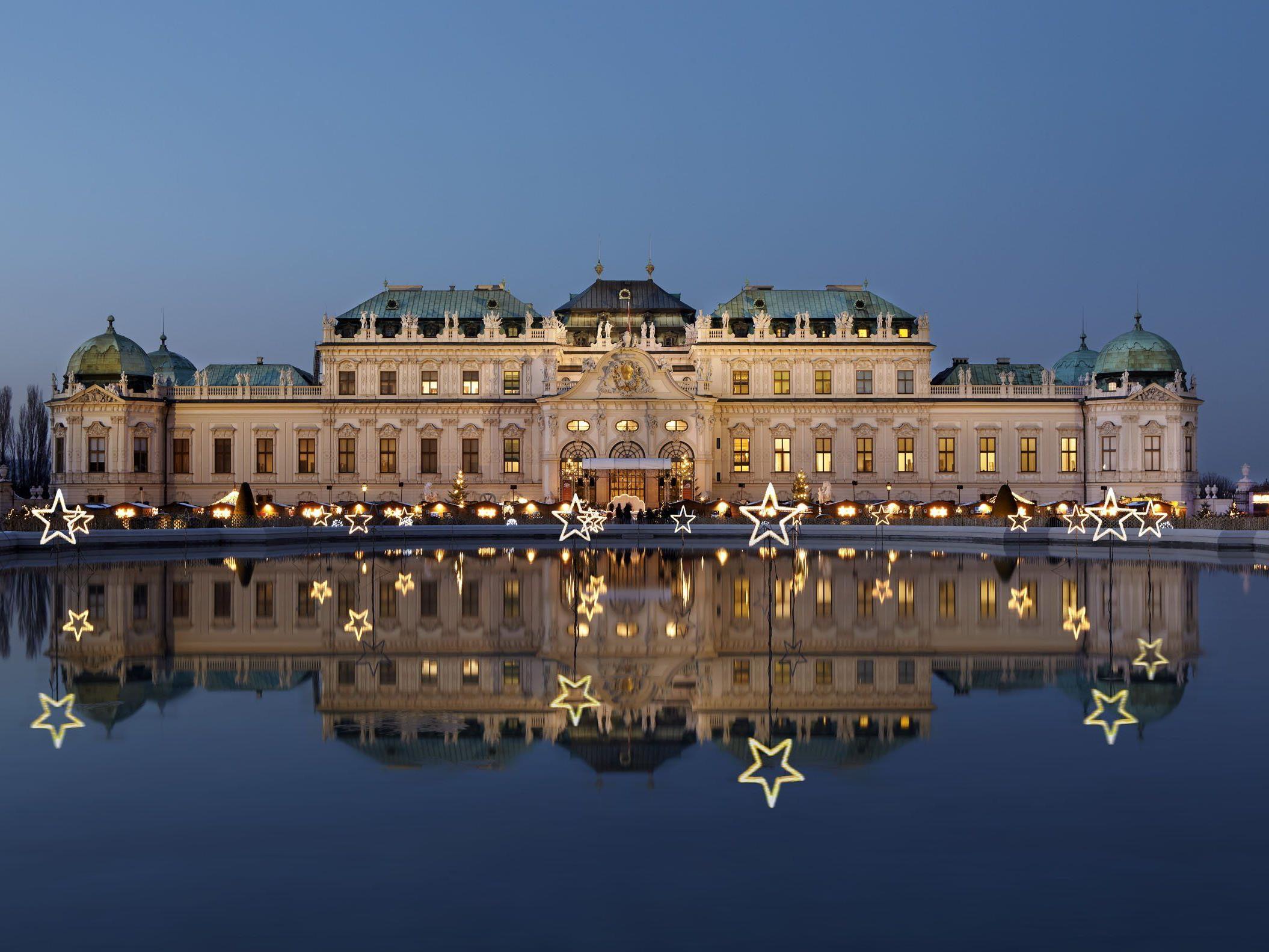 Das Weihnachtsdorf Belvedere öffnet am 21. November 2014.