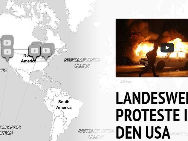 Landesweite Proteste erschüttern derzeit die USA.