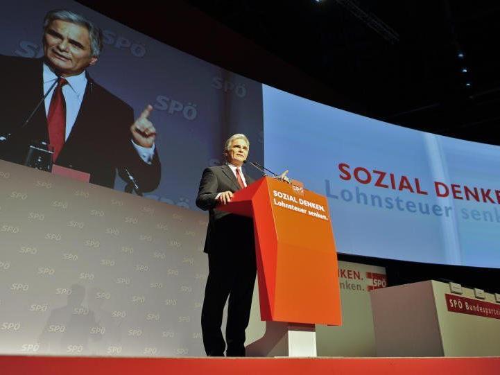 Werner Faymann am SPÖ-Parteitag.