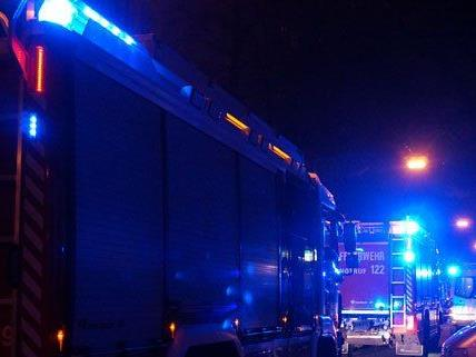 Mit sieben Fahrzeugen war die Wiener Feuerwehr im Einsatz.