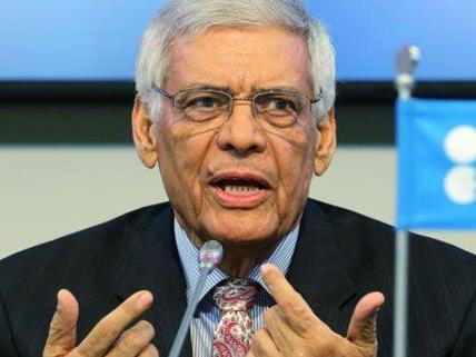 Abdalla Salem El-Badri bei der OPEC Konferenz in Wien.