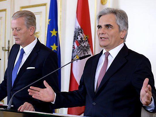 Faymann sieht Koalition auf dem Prüfstand