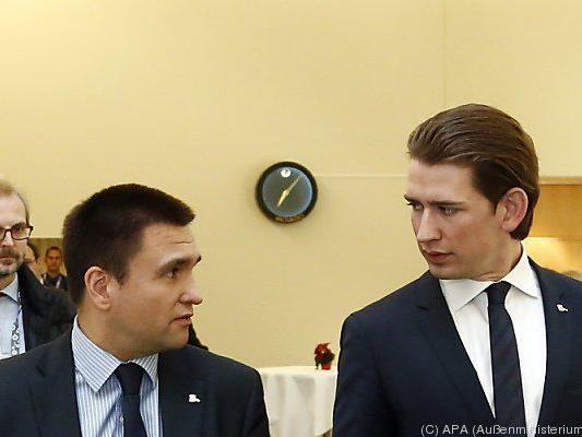 Kurz mit dem ukrainischen Außenminister Klimkin