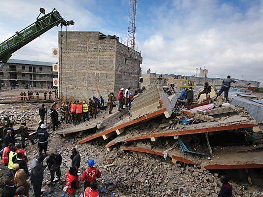 Unglück im Stadtzentrum von Nairobi
