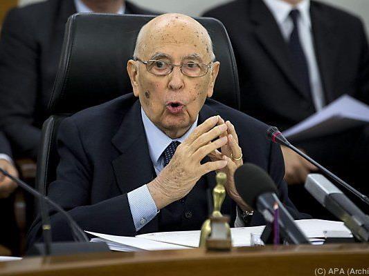 Napolitano könnte Rücktritt erklären