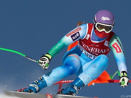 Tina Maze damit auch Weltcup-Gesamtführende