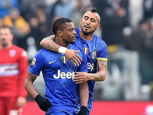 Patrice Evra schoss das 1:0 für Juventus
