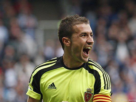 Gabi erzielte beide Tore für Saragossa