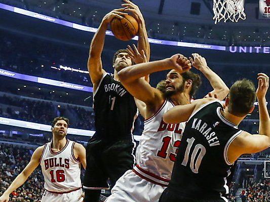 Heimniederlage der Chicago Bulls gegen Brooklyn