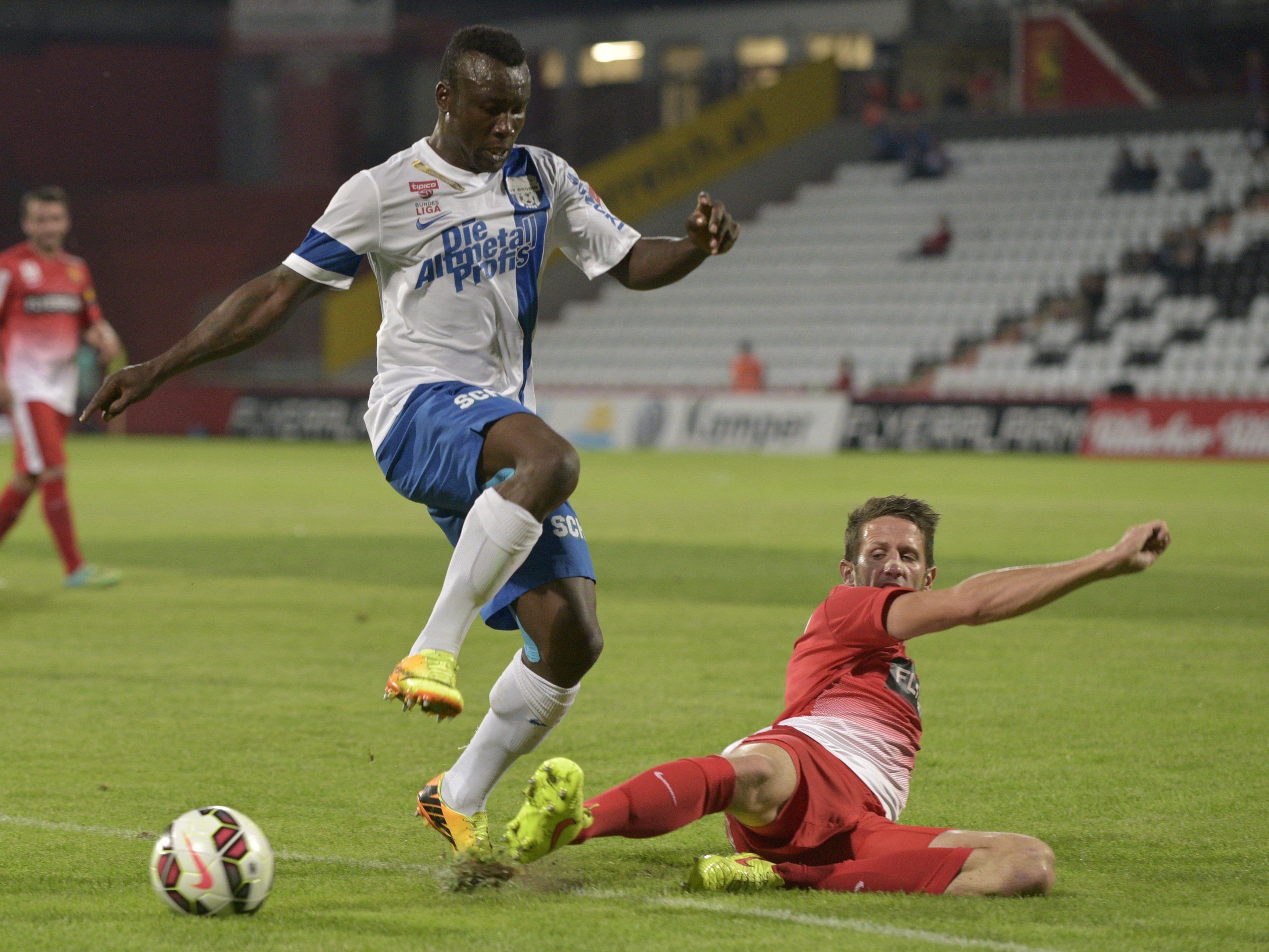 Emmanuel Sunday gab gegen die Admira sein Bundesliga-Debüt und könnte am Samstag wieder zum Einsatz kommen.