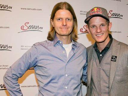 Regisseur Mario Kreuzer und Thomas Morgenstern beim Preview des Dokumentarfilms.