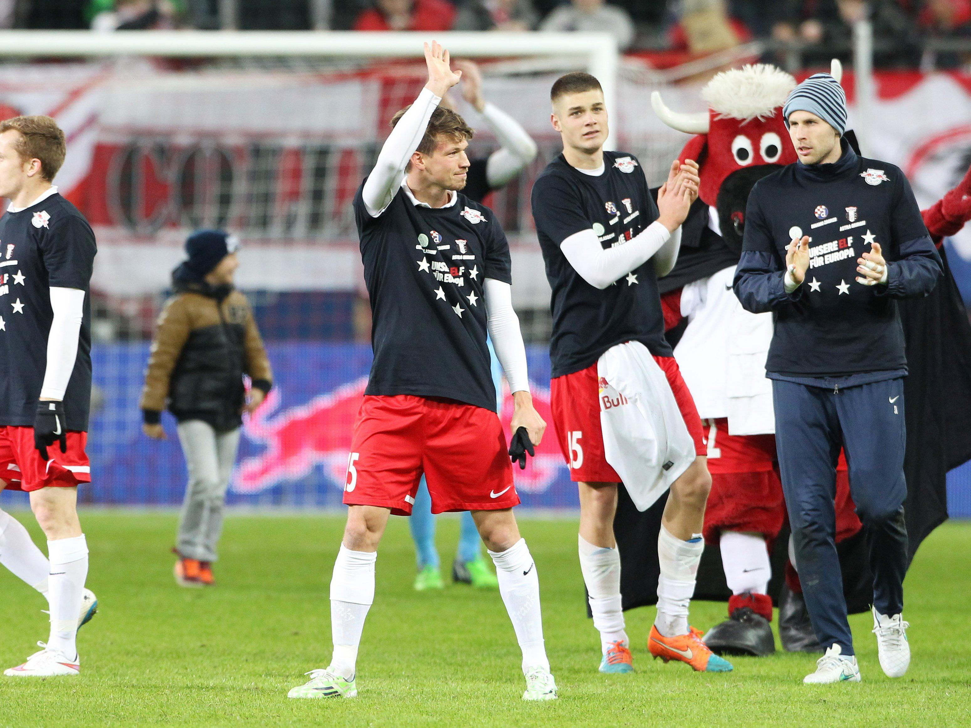 Positive Stimmung bei allen Spielern von Red Bull Salzburg.