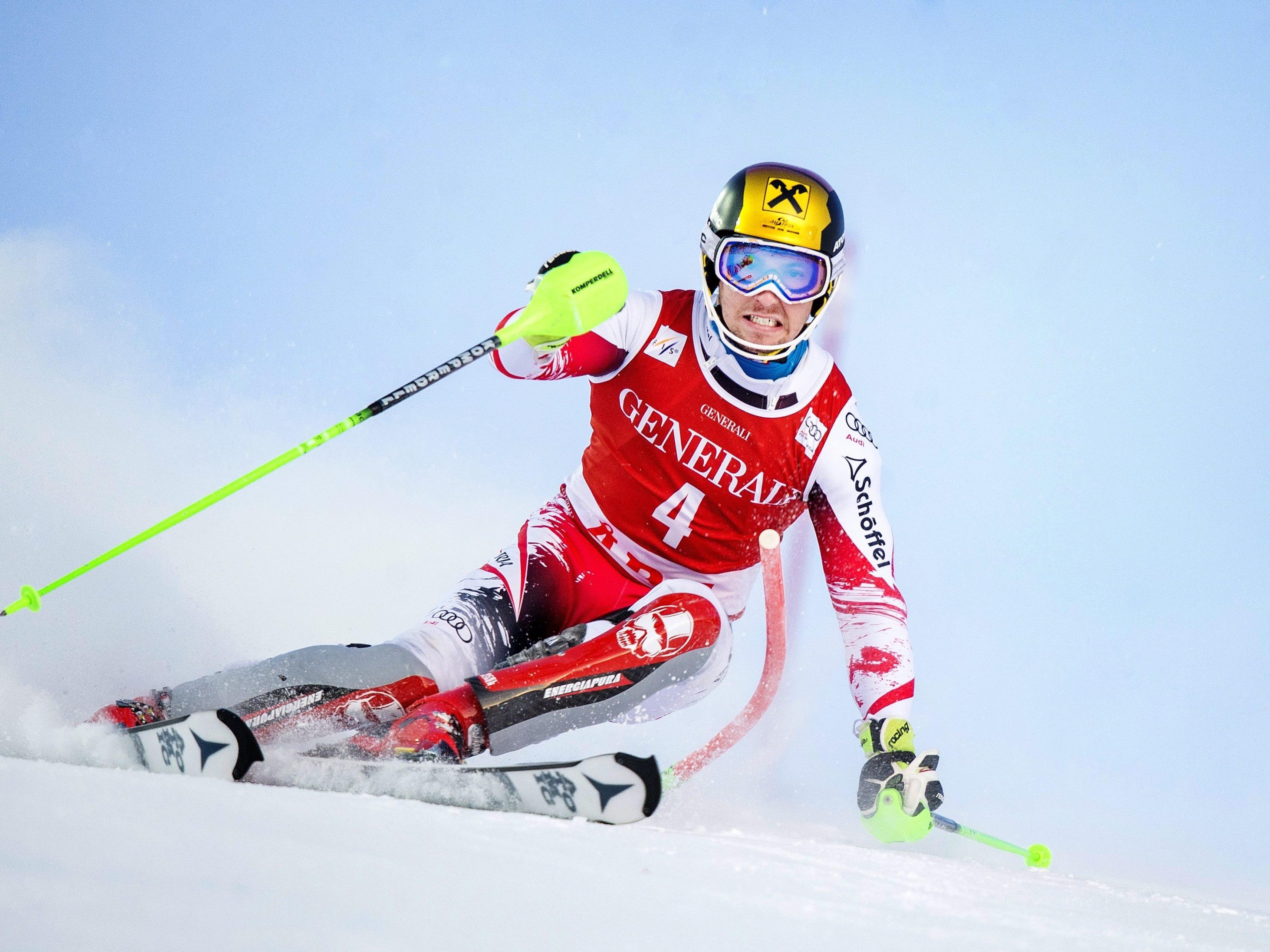 Nach Sieg im Riesentorlauf auch Platz eins im Slalom.