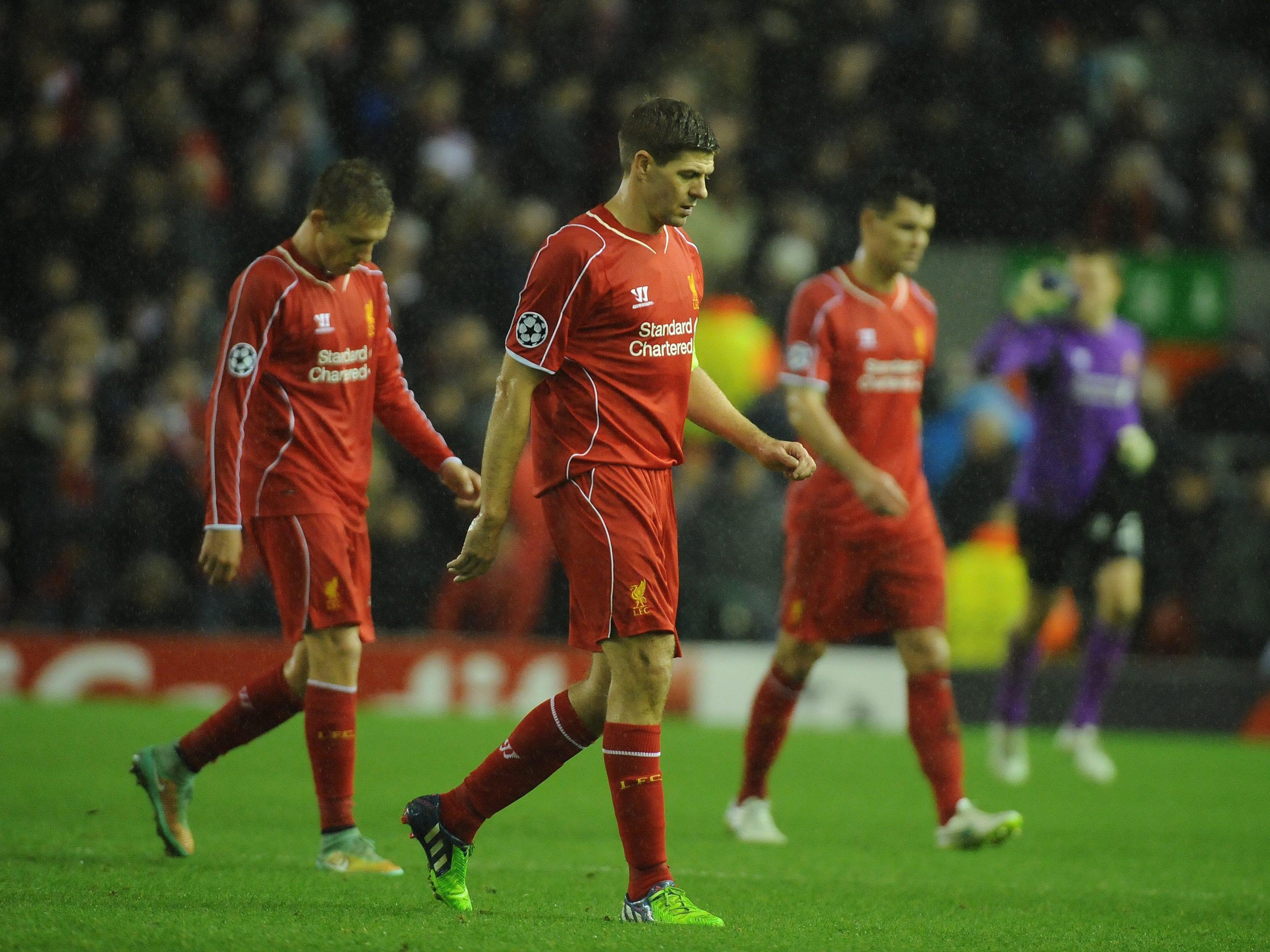 Der FC Liverpool um Steven Gerrard muss im Frühjahr in die Europa League.
