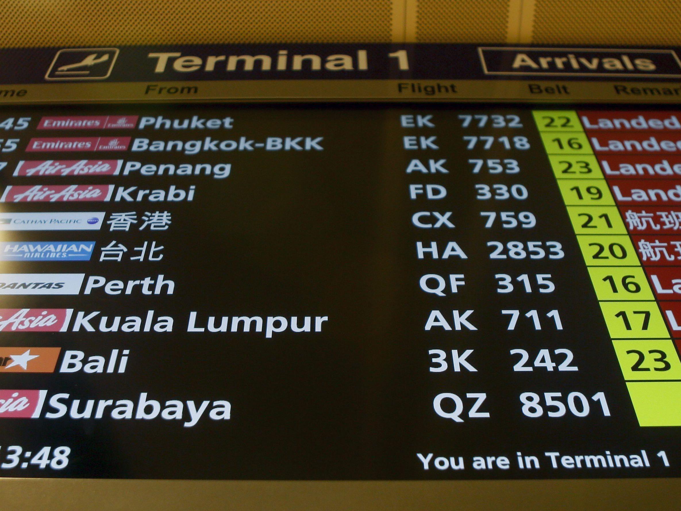 42 Minuten nach dem Start ging der Kontakt mit QZ8501 verloren.