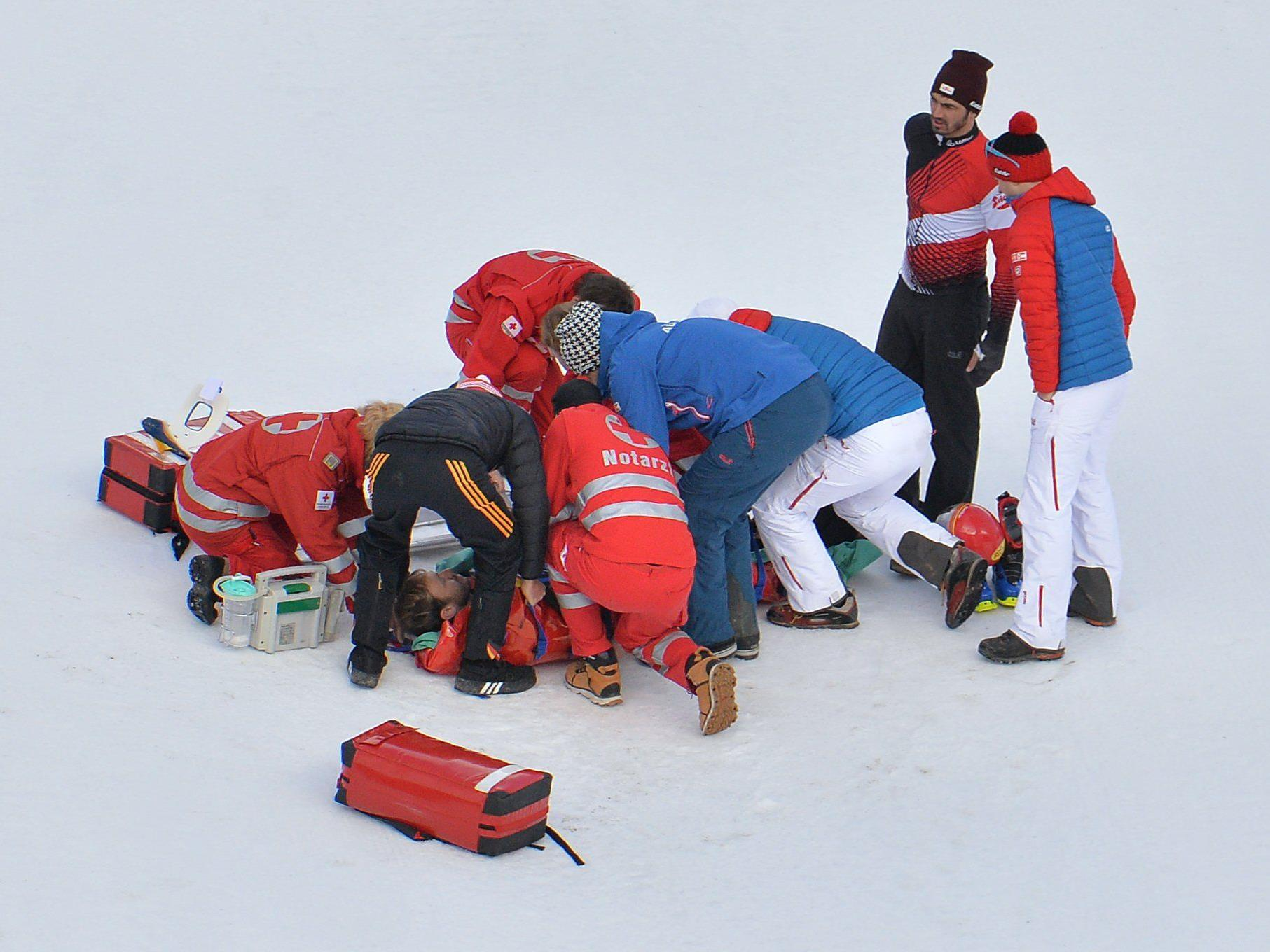 Bieler nach Sturz verletzt.