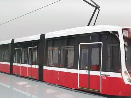 So sollen die neuen Straßenbahnen der Wiener Linien aus.