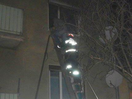 Die Feuerwehr konnte die Familie aus der Wohnung retten.