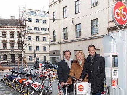 Mittlerweile gibt es 120 Citybike-Stationen in Wien.