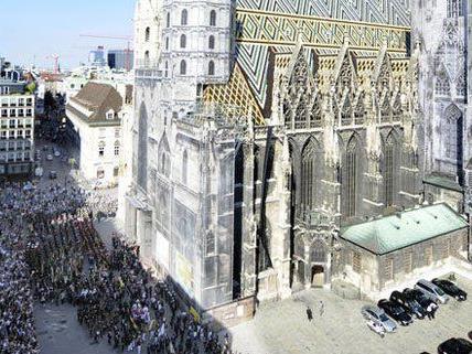 Kundgebung für den Frieden in der Wiener City.