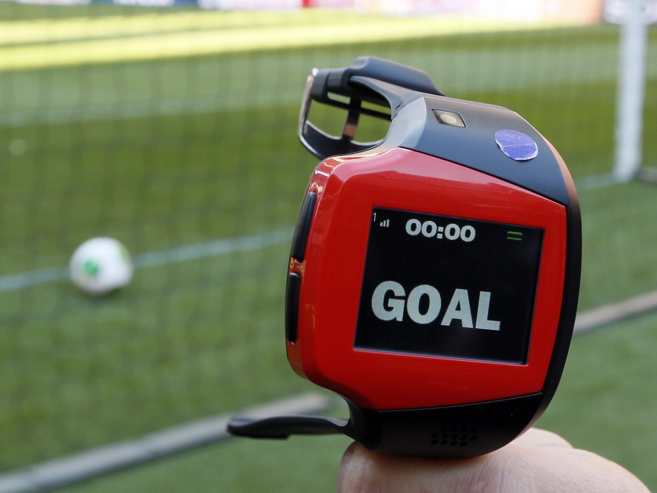 """Die Torlinientechnologie """"GoalControl""""war bereits bei der WM in Brasilien im Einsatz."""