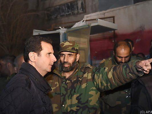 Machthaber Assad besuchte seine Truppen