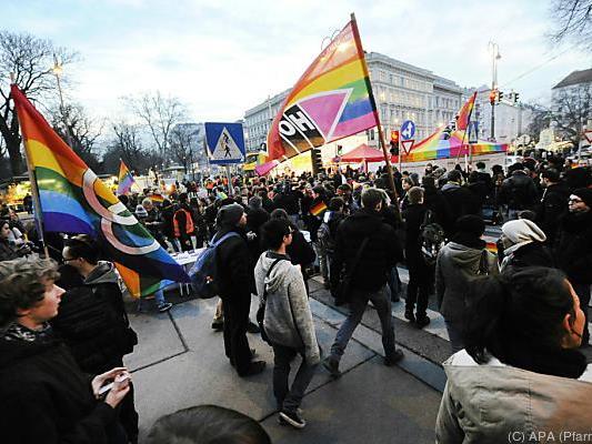 """Demonstration """"für ein weltoffenes Wien"""""""