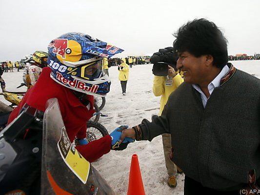 Coma traf Boliviens Präsident Morales