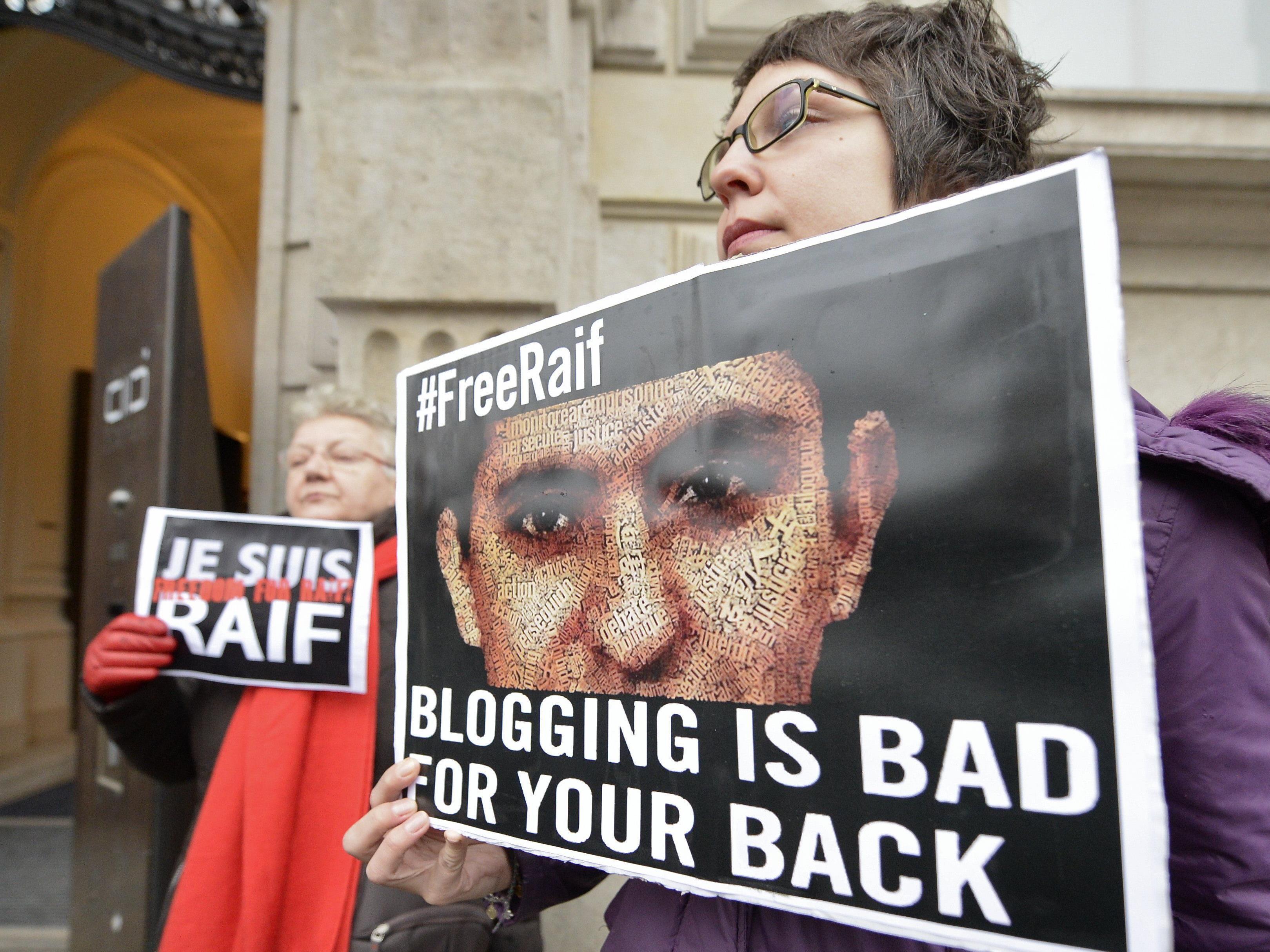 Auch in Wien wurde erneut eine Mahnwache für Raif Badawi abgehalten.