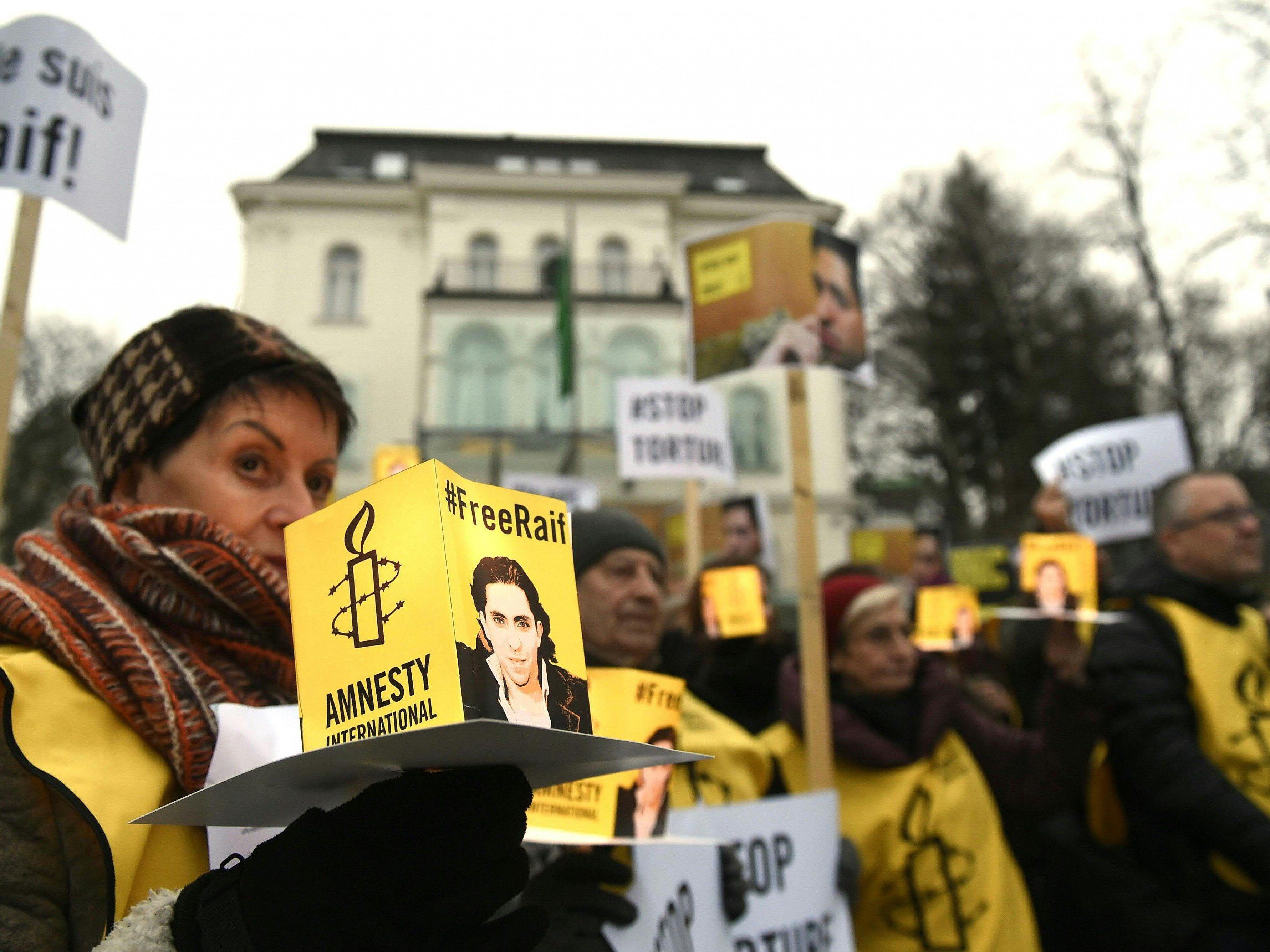 Fall Badawi - 50 Menschen demonstrierten in Wien für Freilassung