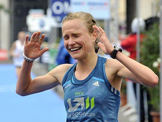 Anna Hahner bei ihrem Sieg in Wien