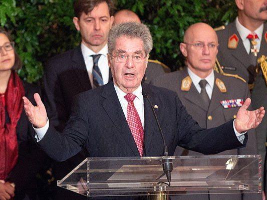 Bundespräsident Heinz Fischer im Rahmen des Neujahrsempfanges für das Diplomatische Corps in der Wiener Hofburg