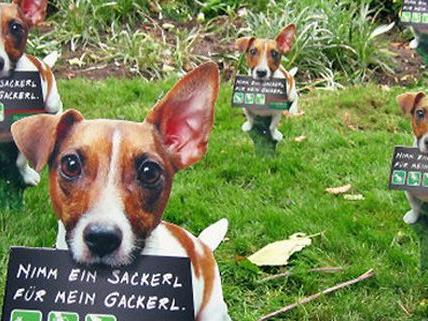 """Stadt Wien freut sich über erfreuliche """"Sackerl fürs Gackerl""""-Aktion."""