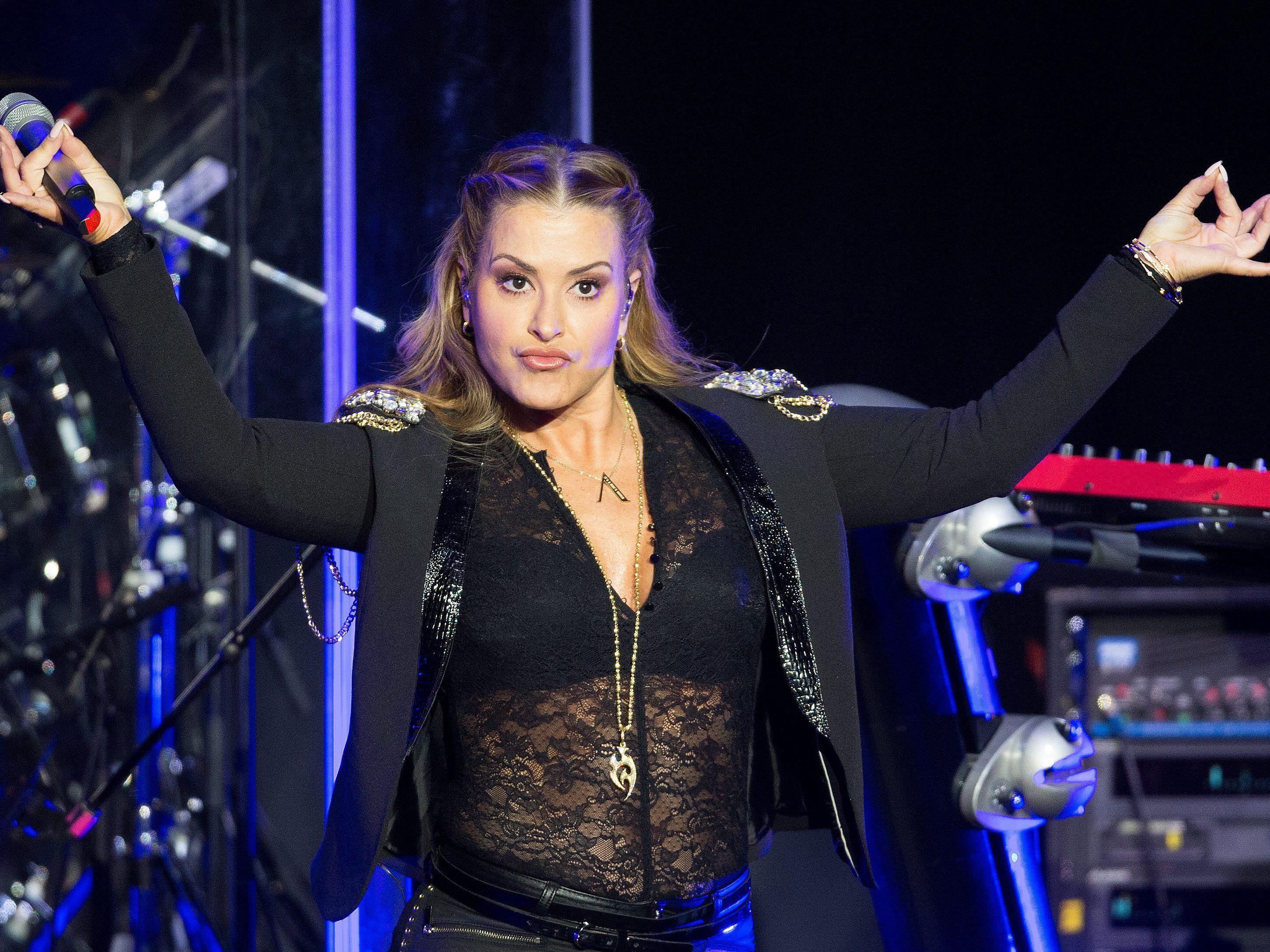 Anastacia bei ihrem Konzert in der Wiener Stadthalle