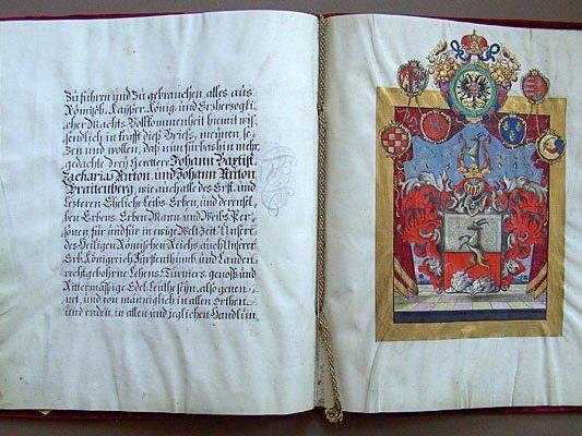 Gestohlen: Der kaiserliche Adelsbrief von 1736 auf einem undatierten Polizeibild