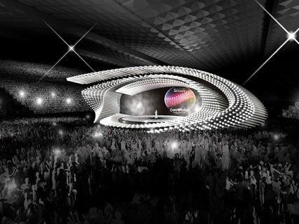 So soll die Song Contest-Bühne in Wien aussehen.