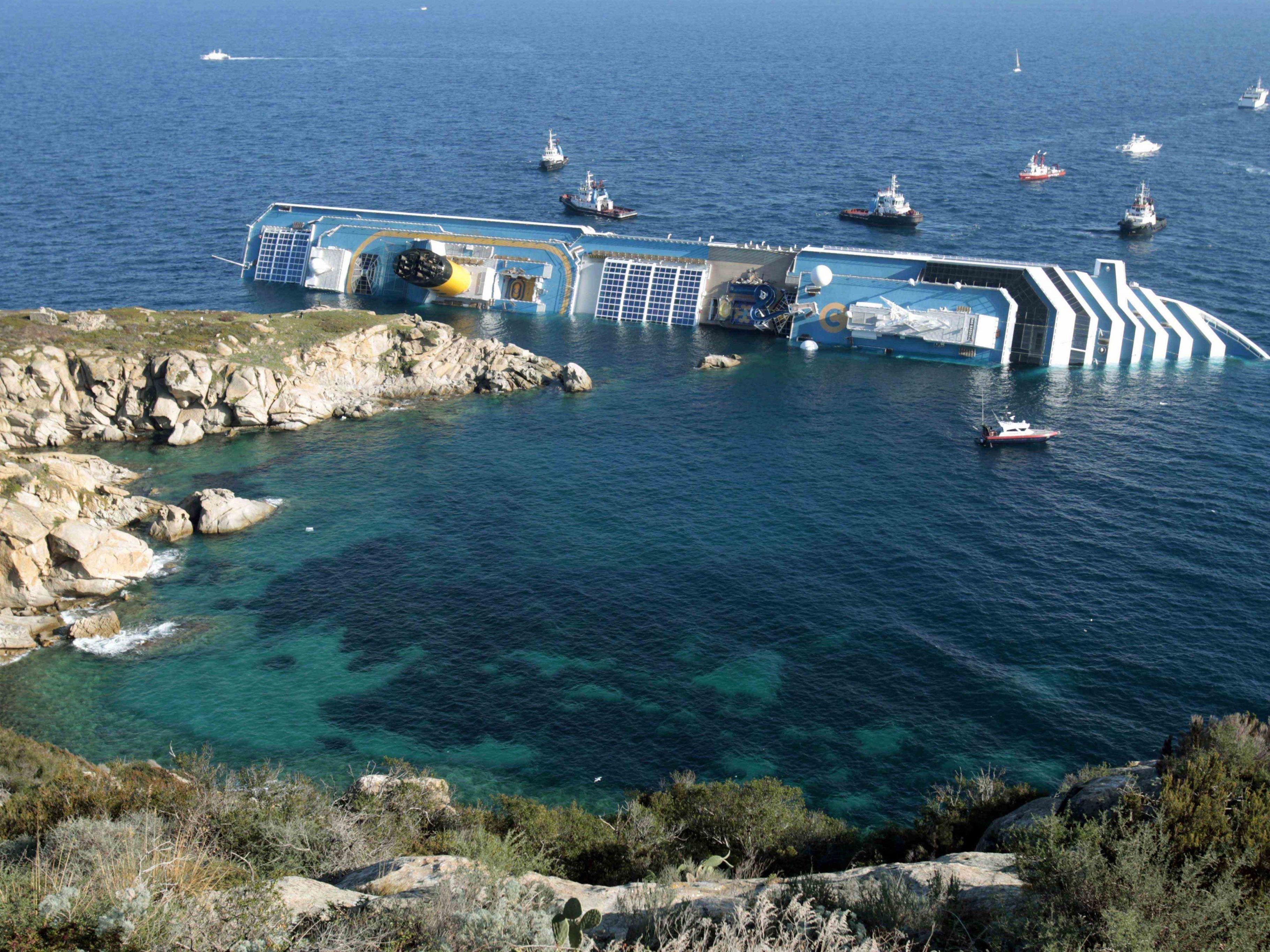 Die Insel Giglio will rund 20 Millionen Euro als Entschädigung für das Schiffsunglück.
